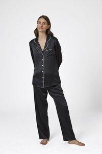Ginia 100% Silk Pyjama Black