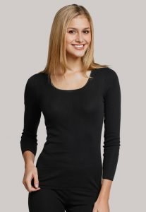 Schiesser Long sleeve Black-vest 200765