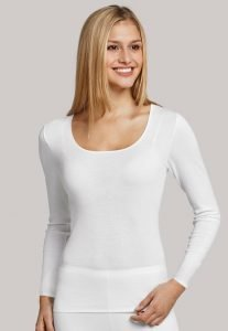 Schiesser Long sleeve-White-vest 200765